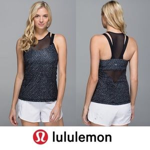 Lululemon Running in the City Grey/Black Tank Top